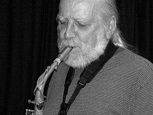 English: Saxophonist Mark Whitecage at concert...