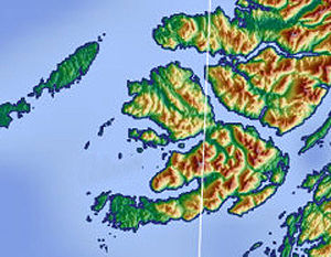 Isle of Mull, Scotland (topographic)
