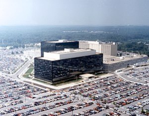 Headquarters of the NSA at Fort Meade, Marylan...