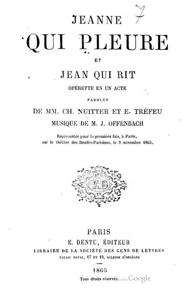 Jean Qui Rit Jean Qui Pleure : pleure, File:Nuitter,, Tréfeu, Jeanne, Pleure, Rit.pdf, Wikimedia, Commons