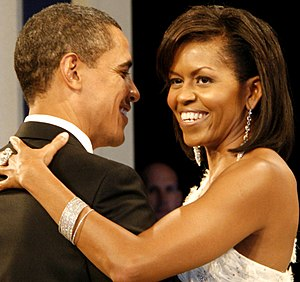President Barack Obama and the First Lady Mich...