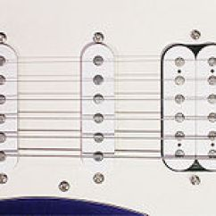 Stratocaster Hss Wiring Diagram Hotpoint Aquarius Dishwasher Pickup Music Technology Wikipedia Three Magnetic Pickups On A Peavey Raptor With The Configuration Of Fat Strat H S Bridge Right Is Humbucker And Neck Left