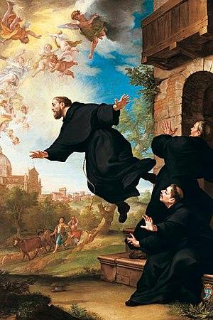 "English: ""S. Giuseppe da Copertino si ele..."