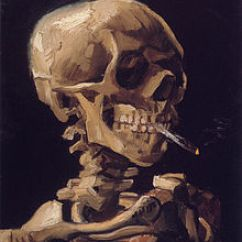 Wake Me Up Inside Skeleton Chair Meme Burnt Orange Sashes Vincent Van Gogh Wikiquote Dec 1885 Early 1886 Skull With A Burning Cigarette Quote Of 1881 There Is Safety In The Midst Danger