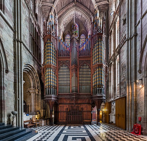 FileWorcester Cathedral organ Worcestershire UK