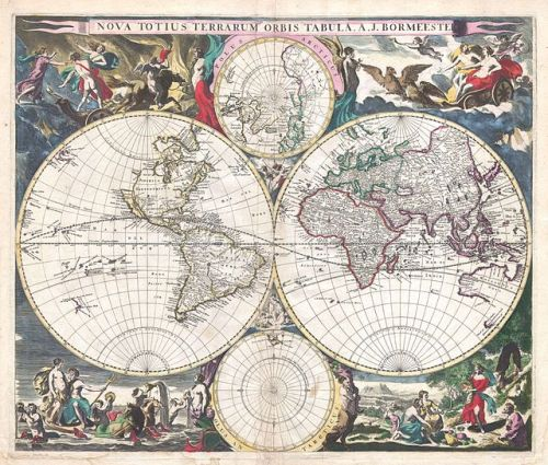 1685 Bormeester Map of the World - Geographicus - TerrarumOrbis-bormeester-1685