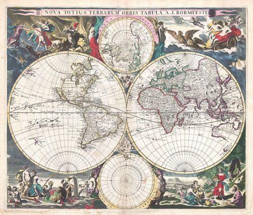 1685 Bormeester Map of the World - Geographicus - TerrarumOrbis-bormeester-1685