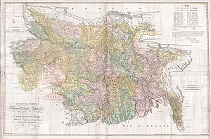 1776 map of Bengal and Bihar by James Rennell