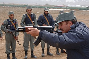 An Afghanistan National Police (ANP) instructo...