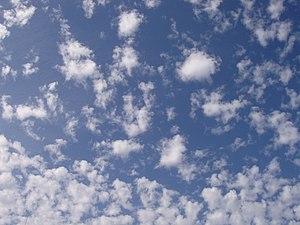 Altocumulus cloud, Tel-Aviv, Israel.