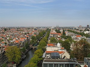 Panoramic (?) view of Amsterdam, taken from th...