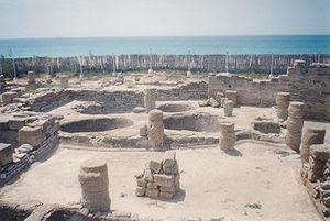 Remains of an ancient garum fish factory at Ba...