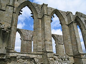 Part of the ruins at Bolton Abbey.