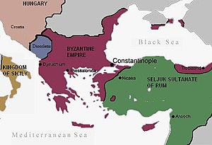 Byzantine empire before the Crusades