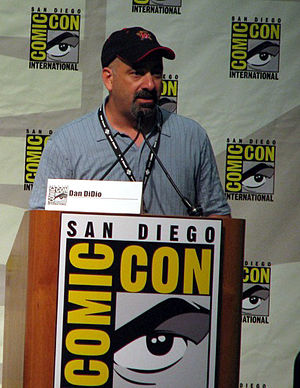 Cropped version of image, Dan DiDio at San Die...