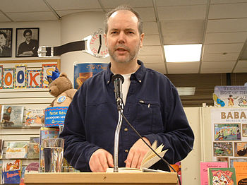 English: Douglas Coupland reading Eleanor Rigb...