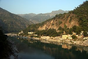 English: Ganges River at Rishikesh.