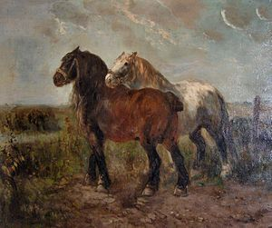 "English: ""Brabant draught horses"" by..."