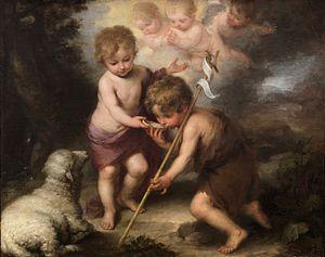 English: Infant Jesus and John the Baptist, Mu...