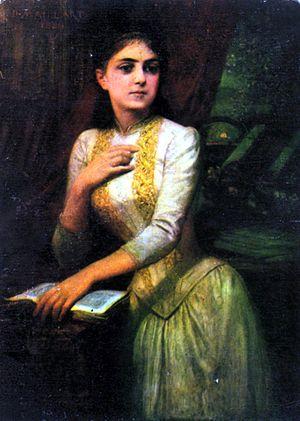 D. Maillart - Portrait of Iulia Hasdeu (1889)