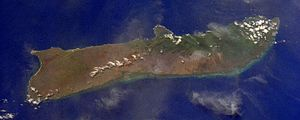 Satellite picture of Moloka'i (Hawaii) Deutsch...