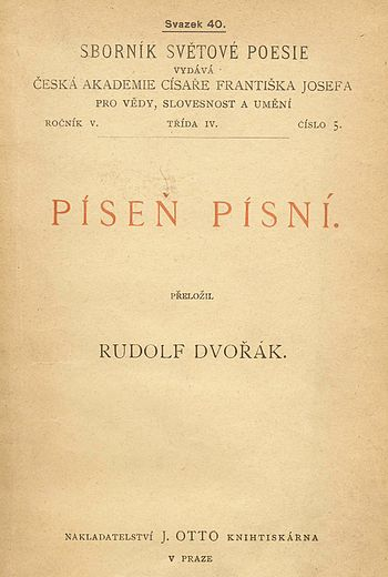 Title page of Píseň písní = The Song of Songs ...