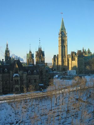 Parliament Hill, viewed from east, Ottawa, Ont...
