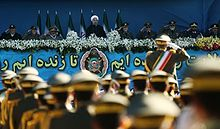 President Rouhani during Iranian Army Day parade