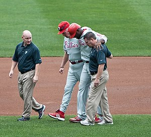 Ryan Howard Injured his ankle