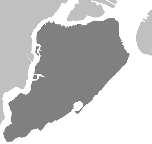A map of Staten Island, NY, for use with Templ...