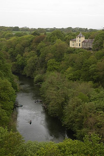 English: The river Teifi at Cilgerran Viewed o...
