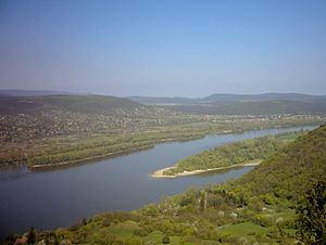 The Danube River, and the Szentendre island, f...