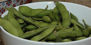 A bowl of Edamame
