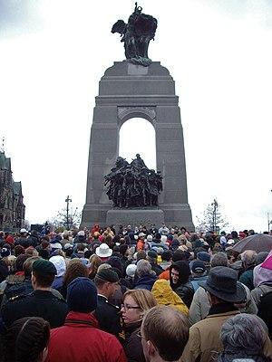 The National War Memorial in Ottawa, Ontario, ...