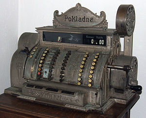 Cash registers built in 1904 in Ohio (USA) for...