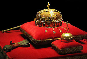 The Crown, Sword and Globus Cruciger of Hungary