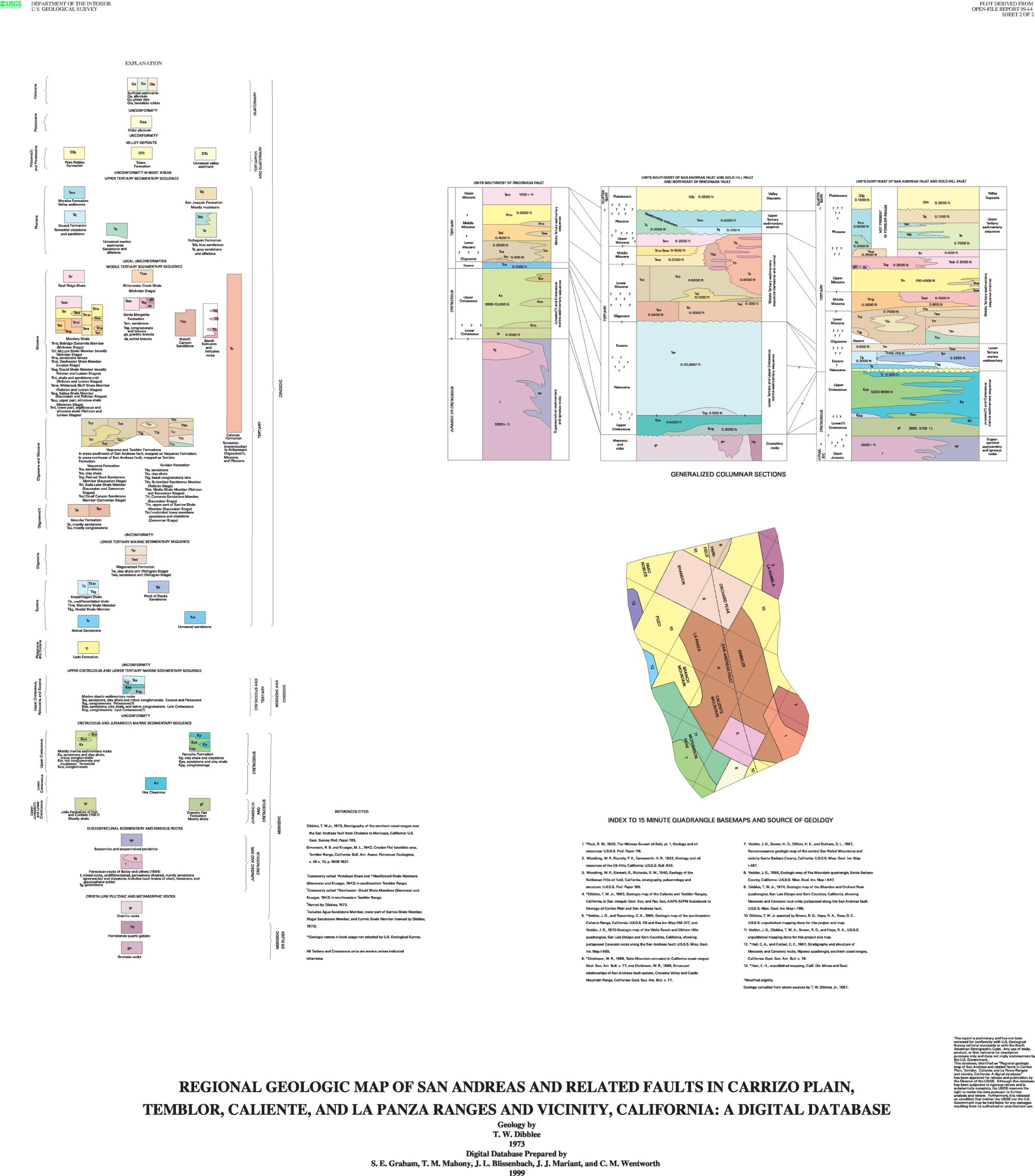 hight resolution of file explanation regional geologic map of san andreas and related faults in carrizo plain temblor caliente and la panza ranges and vicinity california
