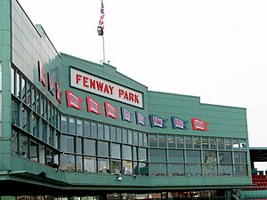 Fenway Park press box, Boston, Massachusetts, USA