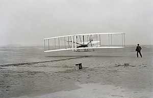 First flight of the Wright Flyer I, December 1...
