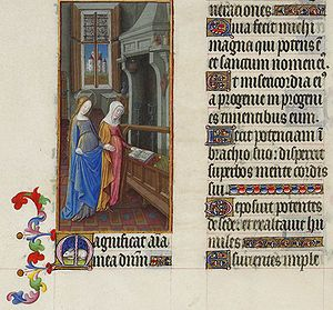 The Visitation in the Book of Hours of the Duc...