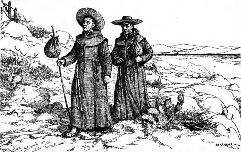 http://en.wikipedia.org/wiki/File:Franciscan_missionaries_in_California.jpg
