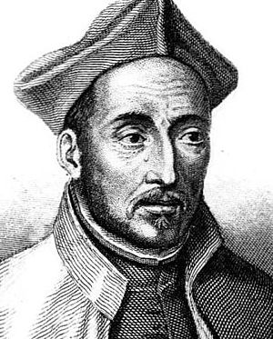English: Ignatius of Loyola (1491-1556) França...