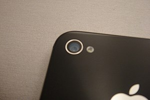 English: Cropped version of the iPhone 4S camera