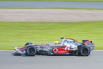 Lewis Hamilton driving for McLaren at the 2007...