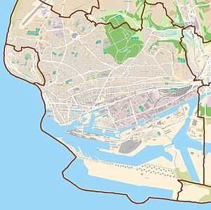 English: Map of Le Havre, France Français : Ca...