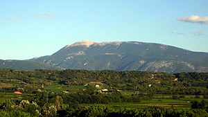 View of Mont Ventoux from Mirabel-aux-Baronnies.
