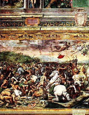 Constantine at the battle of the Milvian Bridg...