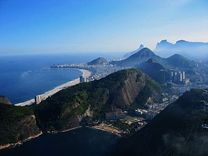 A view of Rio de Janeiro in the direction of C...