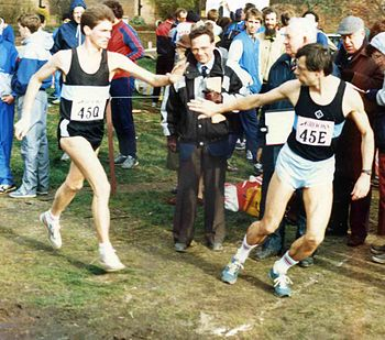 English: Southern Counties 12-stage road relay...
