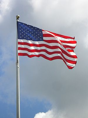 Flag of the United States at the memorial to P...